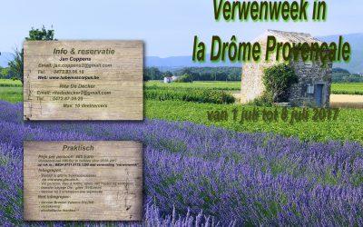 Verwenweek in de Drôme Provençale (1 – 8/7/2017)